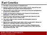 fast genetics