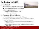 industry in 2010