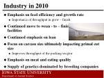 industry in 20101
