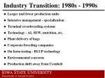 industry transition 1980s 1990s