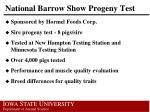 national barrow show progeny test