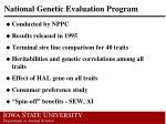 national genetic evaluation program