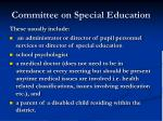 committee on special education