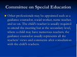 committee on special education57