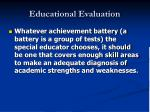 educational evaluation42