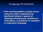 language evaluations