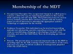 membership of the mdt