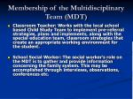 membership of the multidisciplinary team mdt21
