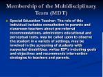 membership of the multidisciplinary team mdt22