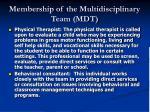 membership of the multidisciplinary team mdt24