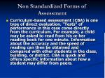 non standardized forms of assessment50