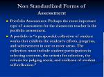 non standardized forms of assessment51