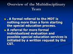 overview of the multidisciplinary team5