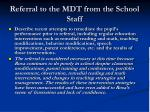 referral to the mdt from the school staff12
