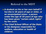 referral to the mdt8