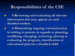 responsibilities of the cse60