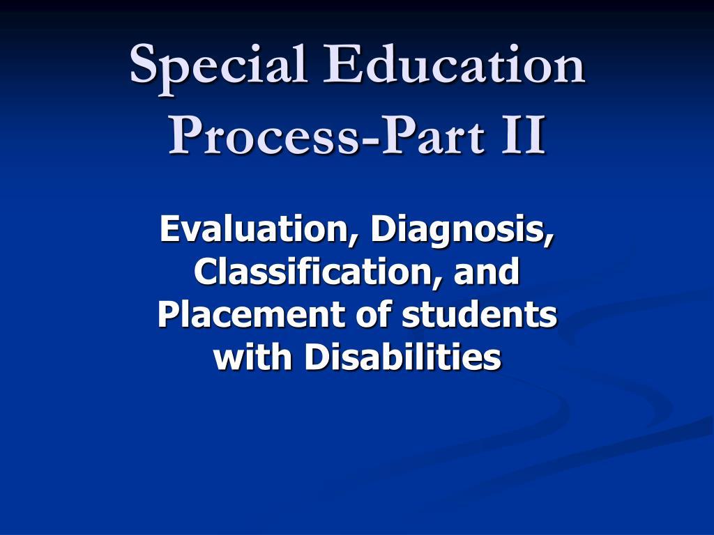 special education process part ii l.