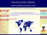 multicultural media s www worldmusicstore com