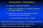 interpretation extrapolation
