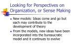 looking for perspectives on organization or sense making23