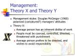 management theory x and theory y