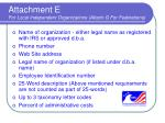 attachment e for local independent organizations attach g for federations
