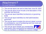 attachment f for local federations