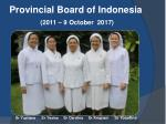 provincial board of indonesia 2011 9 october 2017