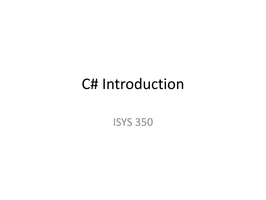 c introduction l.