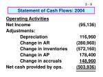 statement of cash flows 2004