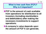 what is free cash flow fcf why is it important