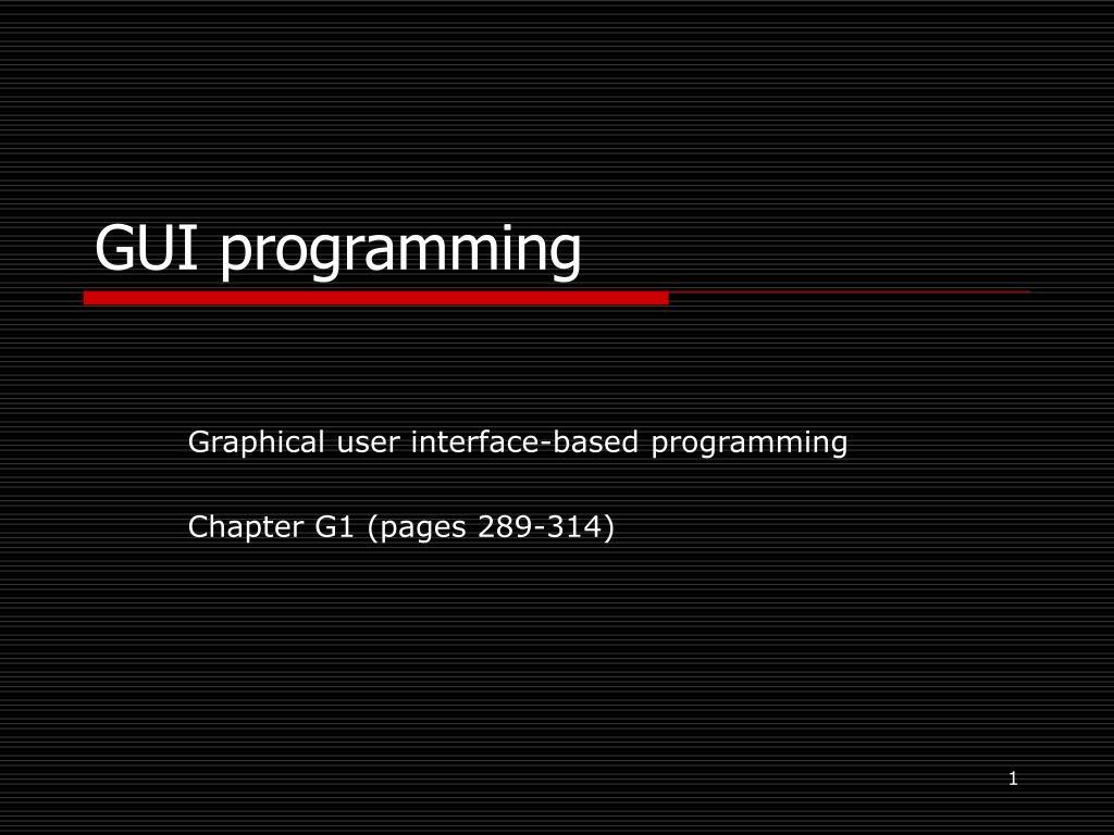gui programming l.