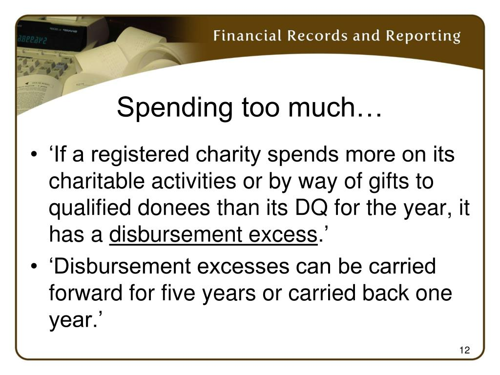 Spending too much…