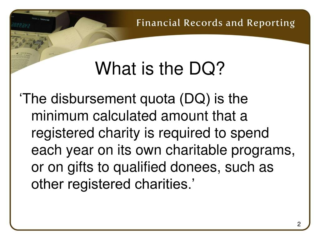 What is the DQ?