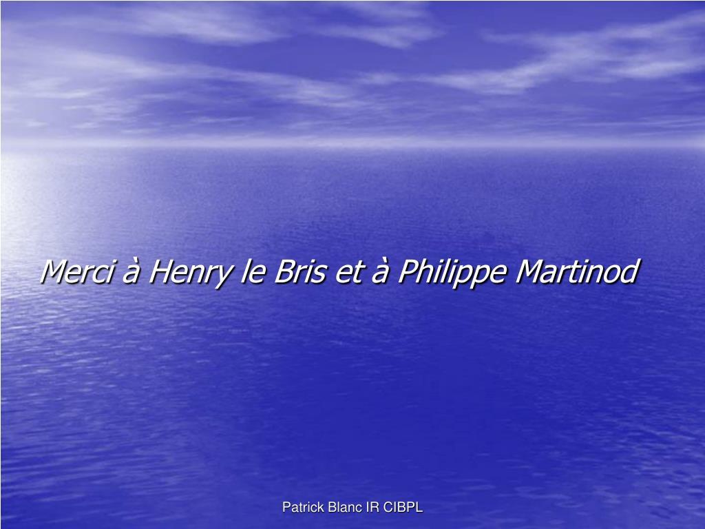 Merci à Henry le Bris et à Philippe Martinod