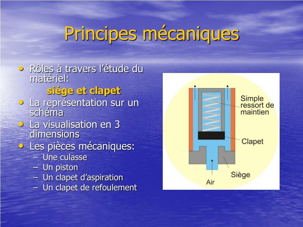 Principes mécaniques