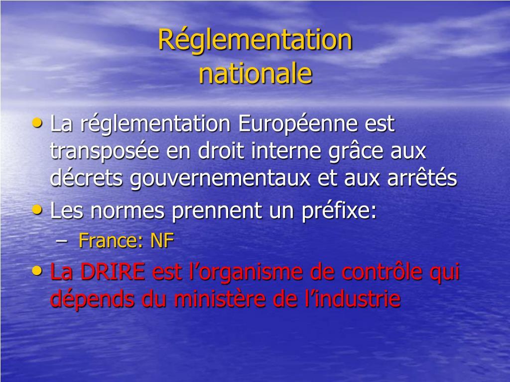 Réglementation