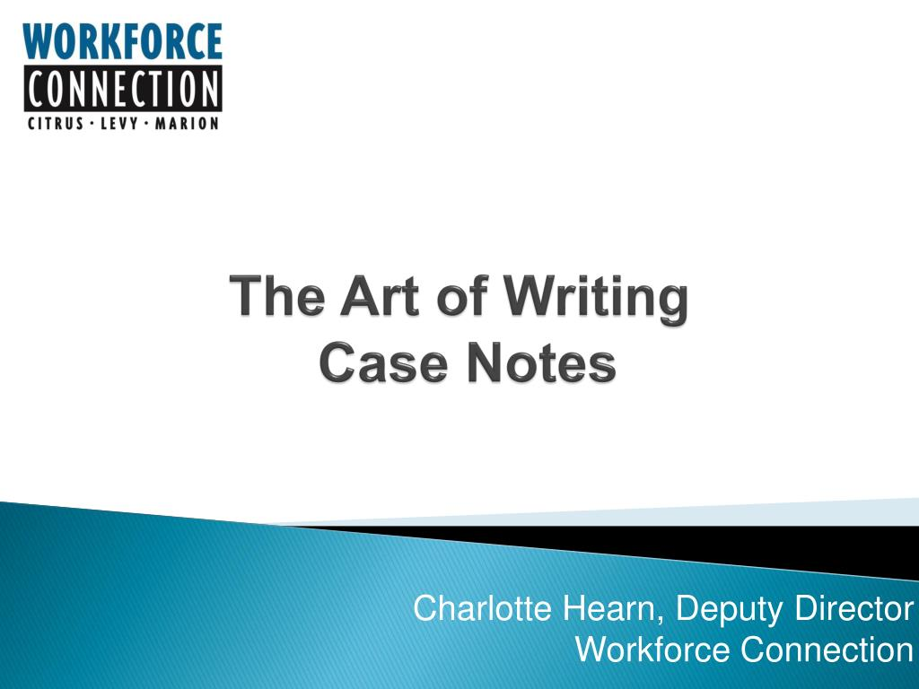 the art of writing case notes l.