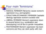 four main feminisms