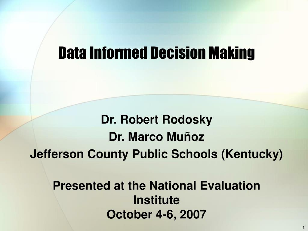 data informed decision making l.