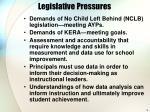 legislative pressures