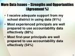 more data issues strengths and opportunities agreement