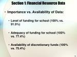 section 1 financial resource data