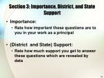 section 3 importance district and state support