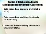 section 4 data access quality strengths and opportunities agreement