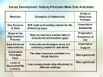 survey development helping principals make data actionable