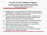 a look at the caribbean region contrasting cuba and puerto rico the two wings of the same bird