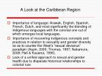 a look at the caribbean region