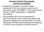 access control granularity and accountability