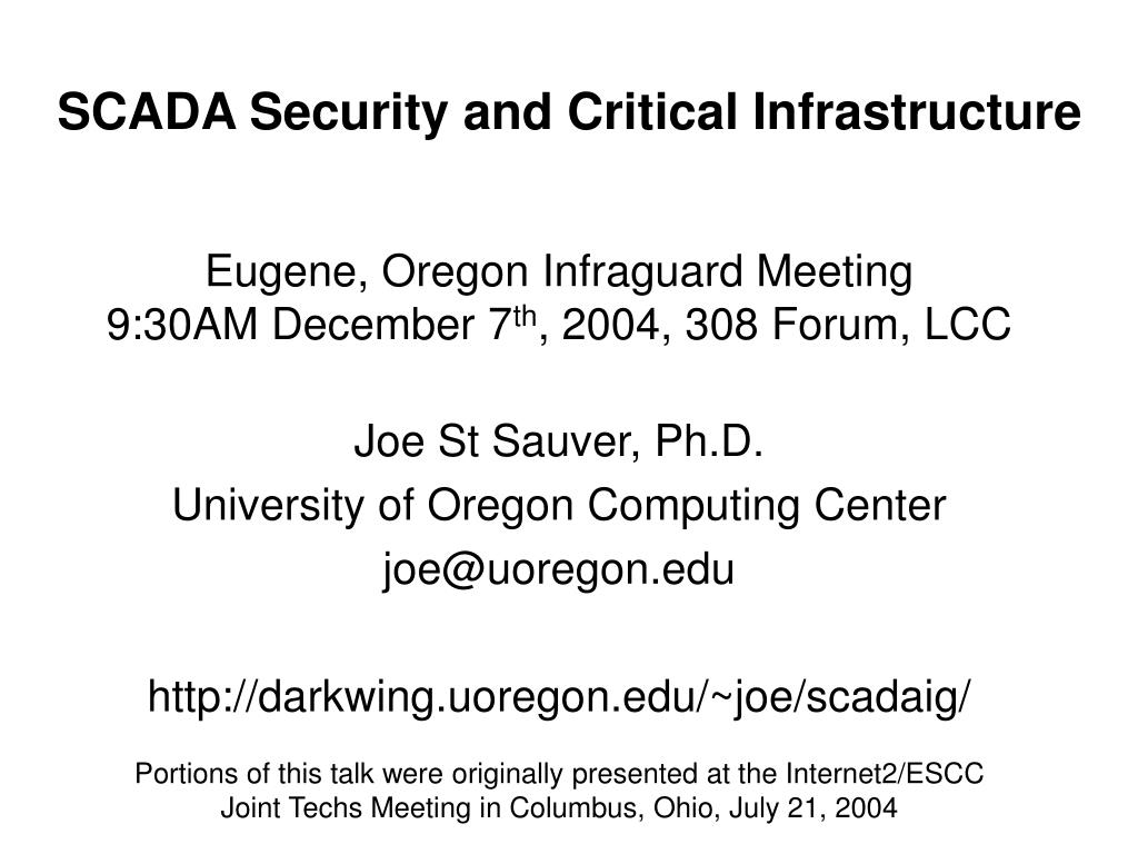 scada security and critical infrastructure l.